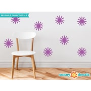 Sunny Decals Starburst Fabric Wall Decal (Set of 8); Purple