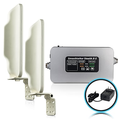 Smoothtalker #BBCX260GK Stealth X2-60db High Power Cellular Signal Booster Kit, Home/Building, Coverage up to 5000 sq.ft.