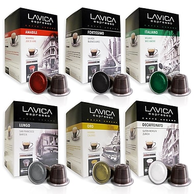 lavica espresso discovery variety pack nespresso compatible 60 capsules pack staples. Black Bedroom Furniture Sets. Home Design Ideas