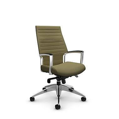 Global Accord High Back Knee Tilter, Imprint Oregano Fabric (Green)