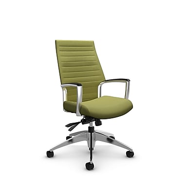 Global Accord High Back Tilter, Imprint Celery Fabric (Green)