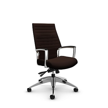 Global Accord High Back Tilter, Imprint Walnut Fabric (Brown)