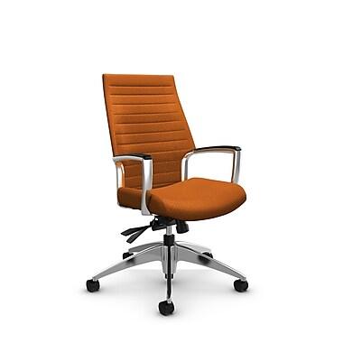 Global – Fauteuil Accord à haut dossier inclinable, tissu agencé orange (orange)