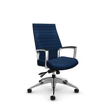 Global Accord High Back Tilter, Match Wave Fabric (Blue)