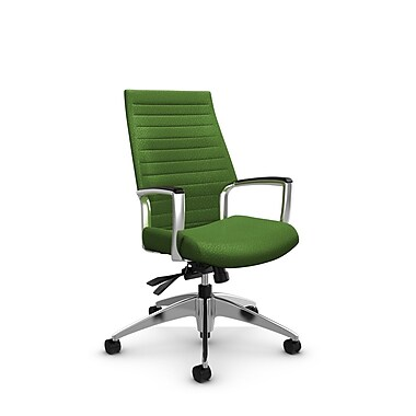 Global Accord High Back Tilter, Match Green Fabric (Green)