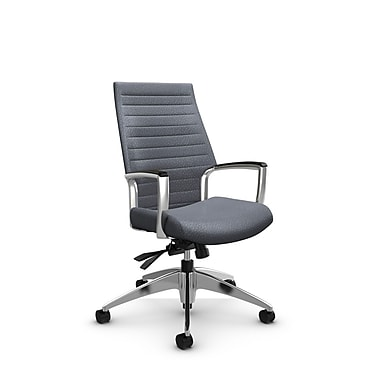 Global Accord High Back Tilter, Match Grey Fabric (Grey)