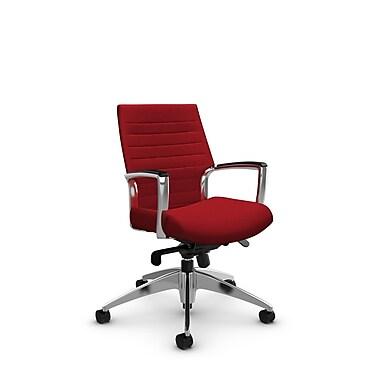 Global – Fauteuil Accord à dossier bas inclinable au niveau des genoux, imprimé rouge pomme (rouge)