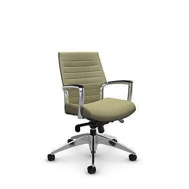 Global Accord Low Back Knee Tilter, Imprint Green Tea Fabric (Green)
