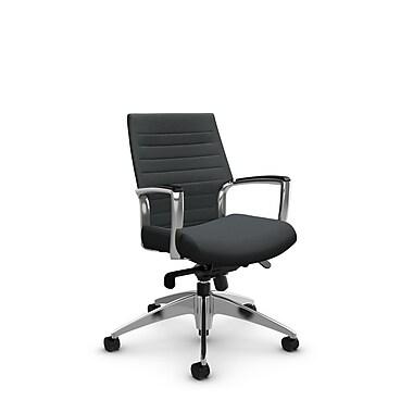 Global – Fauteuil Accord à dossier bas inclinable au niveau des genoux, imprimé ardoise (gris)