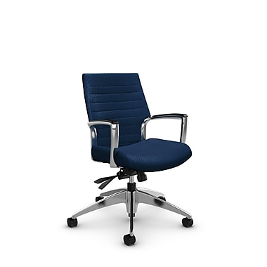 Global Accord Low Back Tilter, Match Wave Fabric (Blue)