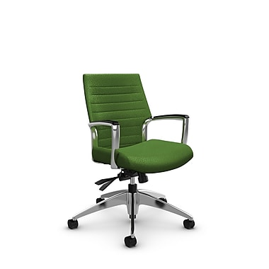 Global Accord Low Back Tilter, Match Green Fabric (Green)