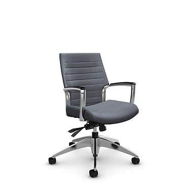 Global – Fauteuil Accord à dossier bas inclinable, tissu agencé gris (gris)