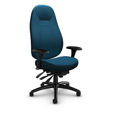 Global Obusforme Comfort High Back Multi-Tilter, Imprint Navy Fabric (Blue)