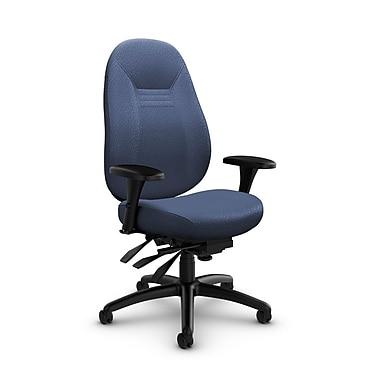 Global – Fauteuil Obusforme Comfort, dossier mi-dos, à basculements multiples, tissu Match Blue (bleu)