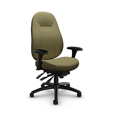 Global Obusforme Comfort Mid Back Multi-Tilter, Imprint Oregano Fabric (Green)