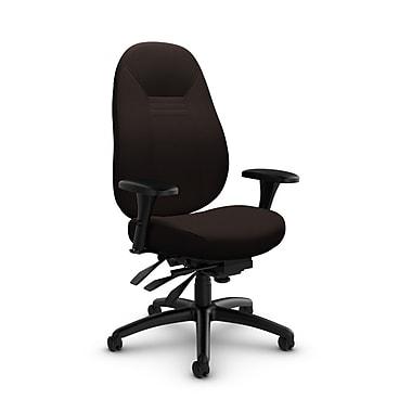 Global Obusforme Comfort Mid Back Multi-Tilter, Imprint Walnut Fabric (Brown)