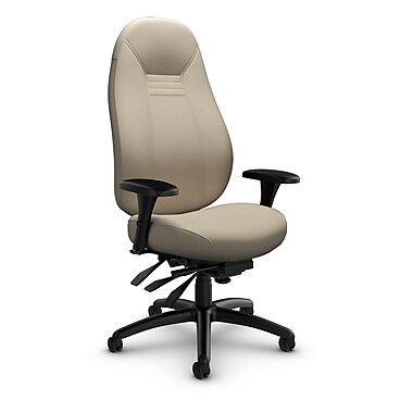 Global Obusforme Comfort 24-Hour High Back Multi-Tilter, Imprint Sand Fabric (Tan)