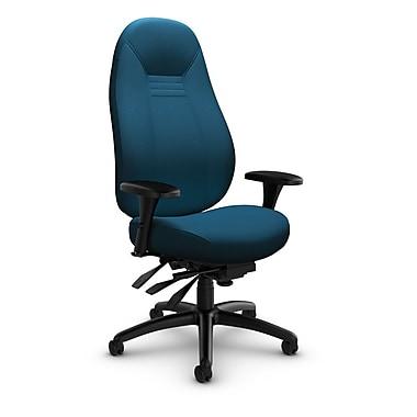 Global – Fauteuil ObusForme Comfort 24 heures, doss. haut, basc. multi, tissu couleur bleu marine