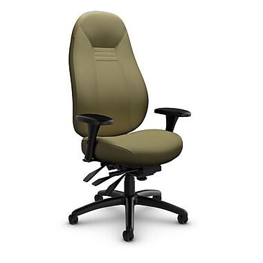 Global Obusforme Comfort 24-Hour High Back Multi-Tilter, Imprint Oregano Fabric (Green)