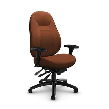 Global Obusforme Comfort 24-Hour Mid Back Multi-Tilter, Match Sunset Fabric (Orange)
