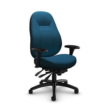 Global – Fauteuil ObusForme Comfort 24 heures, mi-dos, basc. multi, tissu couleur bleu marine