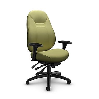 Global – Fauteuil ObusForme Comfort 24 heures, mi-dos, basc. multi, tissu couleur vert céleri