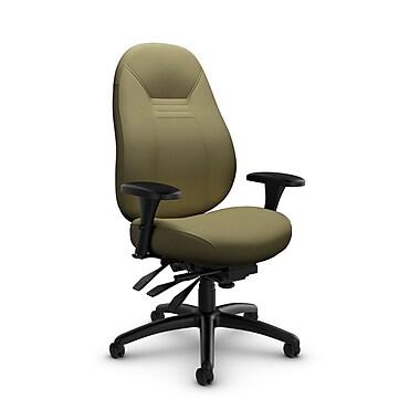 Global Obusforme Comfort 24-Hour Mid Back Multi-Tilter, Imprint Oregano Fabric (Green)