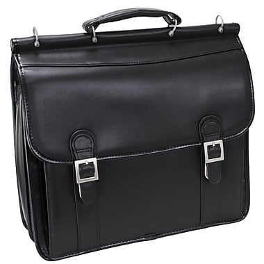 McKlein USA Halsted Leather Double Compartment Laptop Case, 15