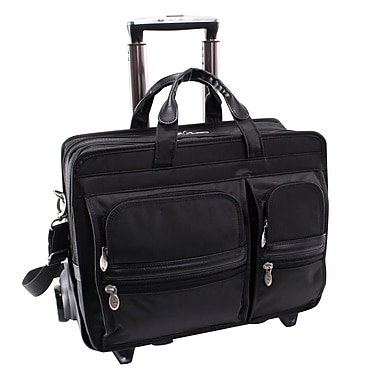 McKlein USA® Clinton P Series Black Nylon Detachable Wheeled Carrying Case For 17