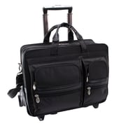"McKlein USA® Clinton P Series Black Nylon Detachable Wheeled Carrying Case For 17"" Laptop"
