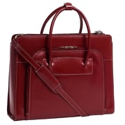 "McKlein USA® Lake Forest W Series Red Leather Ladies Briefcase For 15.4"" Laptop"