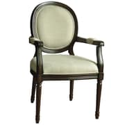 Crestview Huntington Linen Round Back Arm Chair