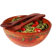 Woodard & Charles Salad w/ Style 3 Piece Hot Pepper Salad Bowl Set