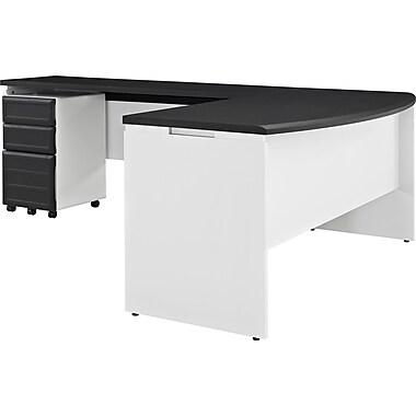 Altra Pursuit Office Set With Mobile File Cabinet Bundle