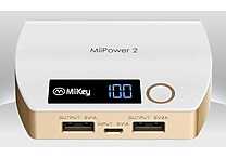 Miikey Miipower 2 5200 mAH Power Bank w/ 2USB Ports & Digital Meter - Assorted Colors