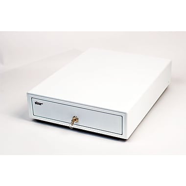 Star Micronics Cash Drawer, White, 13Wx17D, Printer Driven, 3Bill-5Coin for Canada, DK Ready with CD1 Cable