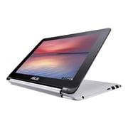 "ASUS C100PA-DB01 Chromebook Flip 10.1"" WXGA Touchscreen Rockchip Cortex-A17 RK3288C 16GB SSD 2GB RAM Laptop, Silver"