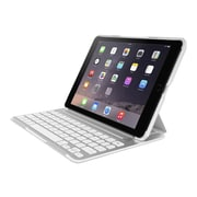 Belkin F5L176ttWHT QODE Ultimate Pro Wireless Keyboard and Folio Case for Apple iPad Air 2, Silver/White