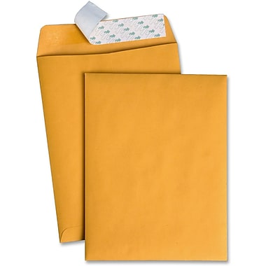 Quality Park Redi-Strip Kraft Catalogue Envelopes, 10