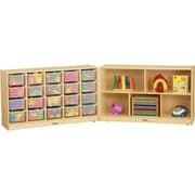 Jonti-Craft E-Z Glide Fold-n-Lock 25 Compartment Cubby; Clear