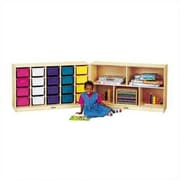 Jonti-Craft E-Z Glide Fold-n-Lock 25 Compartment Cubby; Colored
