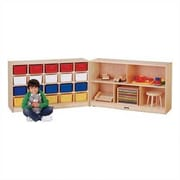 Jonti-Craft Fold-n-Lock 25 Compartment Cubby; Colored