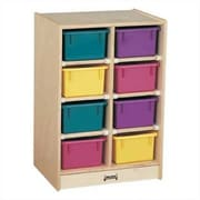 Jonti-Craft Mobile 8 Compartment Cubby; Clear