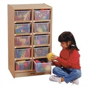 Jonti-Craft Tray Mobile 10 Compartment Cubby; Colored