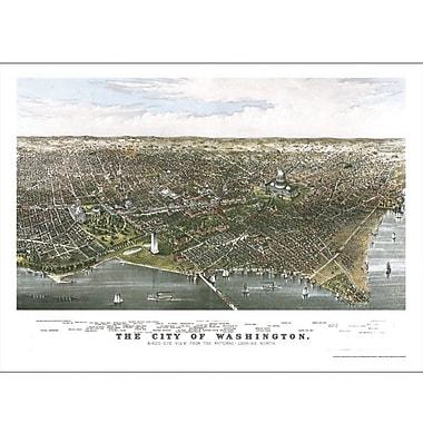 Universal Map Washington D.C. Historical Map; Mounted