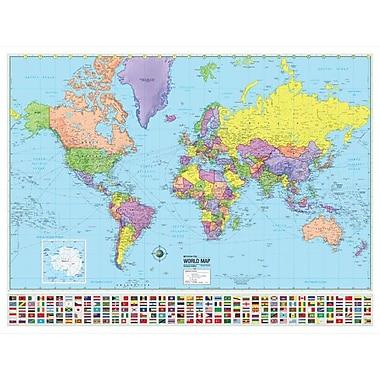 Universal Map World Advanced Political Mounted Wall Map