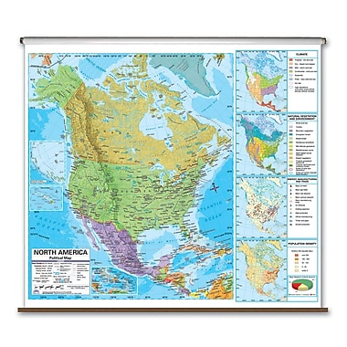Universal Map State Wall Maps on Rollers w/ Backboards; Colorado
