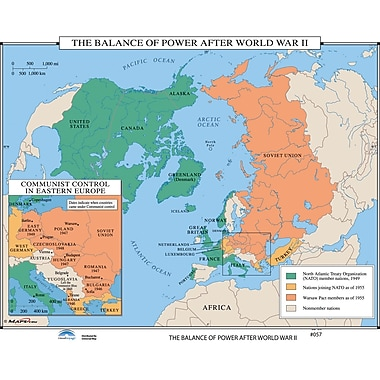 Universal Map U.S. History Wall Maps - Balance of Power after WWII