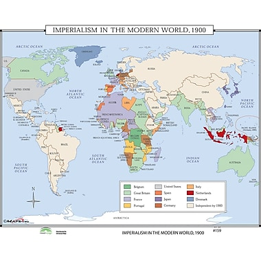 Universal Map World History Wall Maps - Imperialism in Modern World