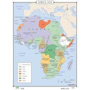 Universal Map World History Wall Maps - Africa 1914